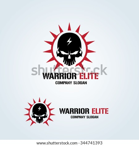 warrior elite logo skull logo