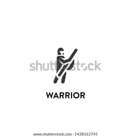 warrior icon vector. warrior vector graphic illustration