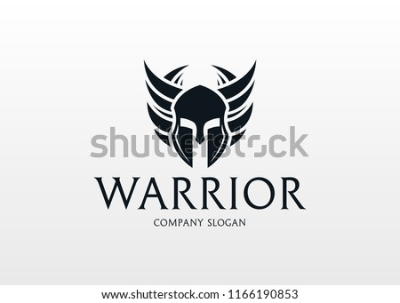 Warrior Logo.  Modern warrior logo design template for a sport team