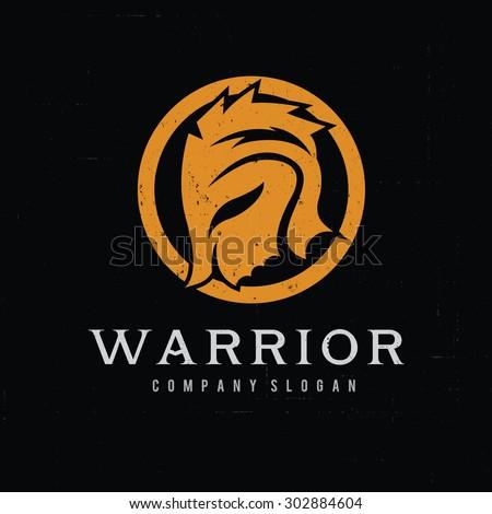 warrior logo rock logo army