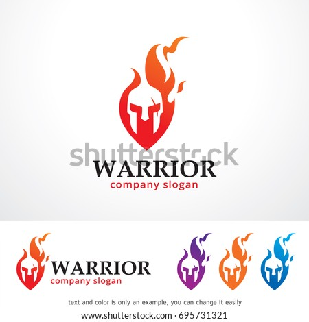 warrior logo template design