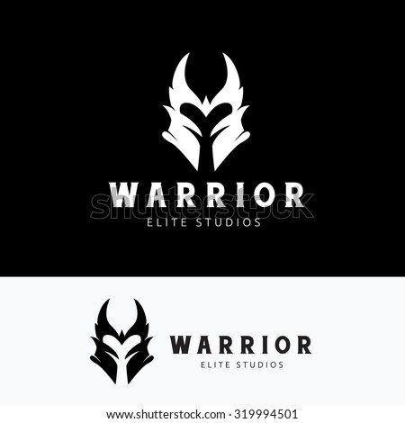 warrior logo viking army mask