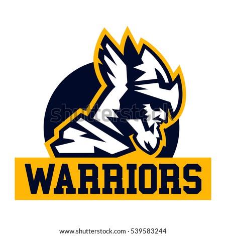 warrior logo viking invader