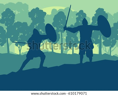 warrior medieval fighter duel