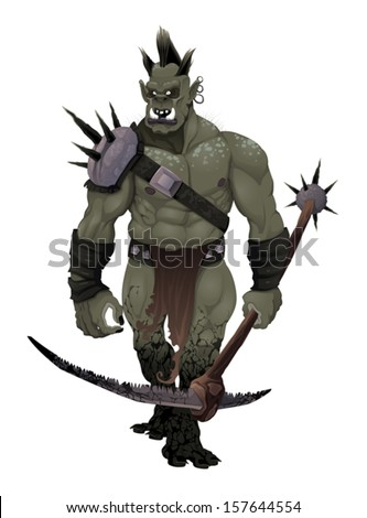 warrior ogre vector isolated