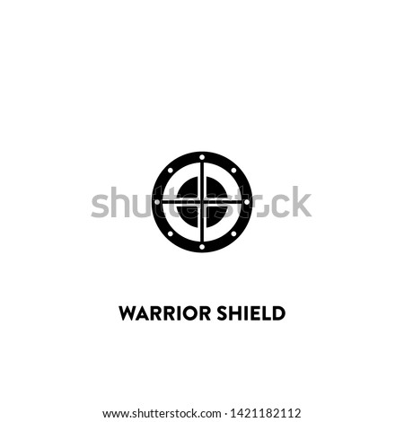warrior shield icon vector. warrior shield sign on white background. warrior shield icon for web and app