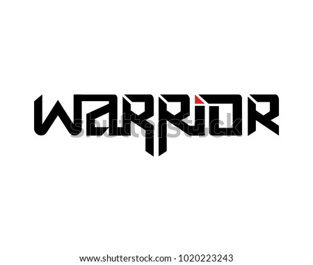 Warrior Vector Lettering Design, Typography, Emblem, Design Concept