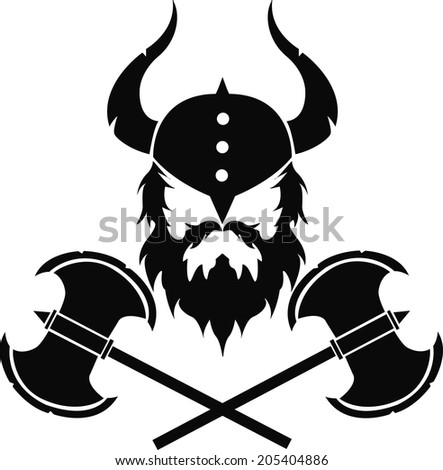 warrior with two axes