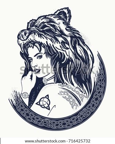 warrior woman tattoo tribal