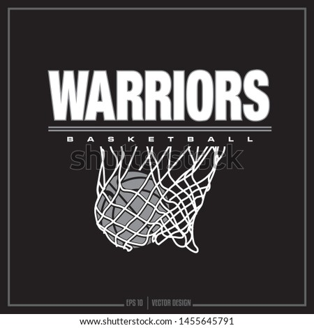 Warriors, Warriors Basketball, Warriors Mascot, Basketball Net, Sports Design, Team Logo