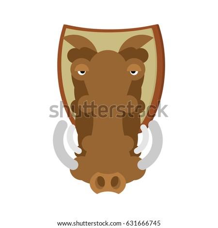 warthog hunting trophy head