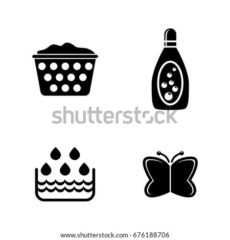wash simple related vector