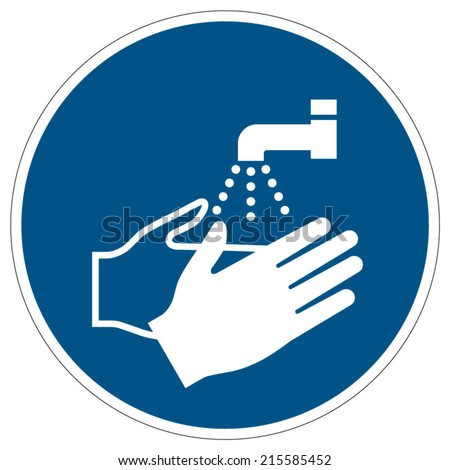 Wash your hands mandatory sign (eps 10)