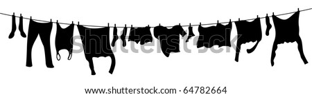 washing line - stock vector
