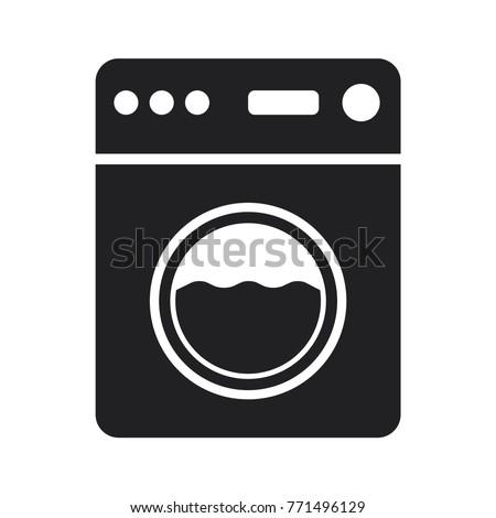 washing machine icon, flat design best washing machine icon