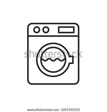 washing machine icon vector. electric appliances icon line style