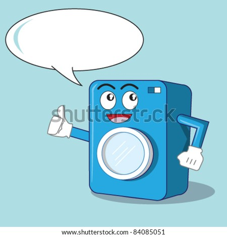 Washing machine illustration character