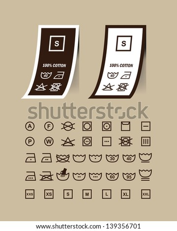 washing symbols set on clothing labelsvector 139356701