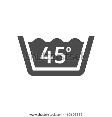 washing temperature icon in