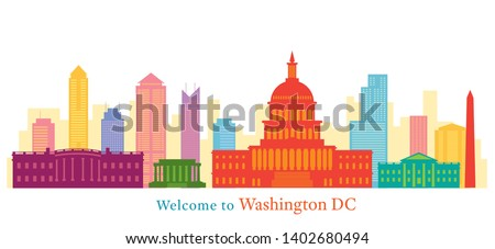 Washington DC, Landmarks, Skyline and Skyscraper, Capitol Dome, White House, Travel and Tourist Attraction