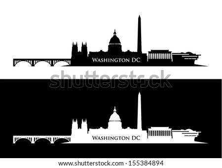 Washington DC skyline - vector illustration