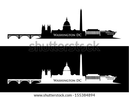 Washington DC skyline - vector illustration