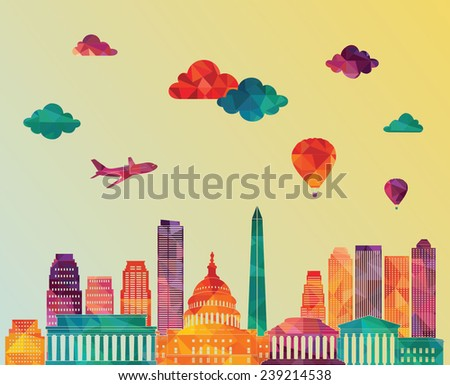 washington dc skyline vector