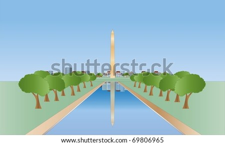 Washington monument ( background on separate layer )