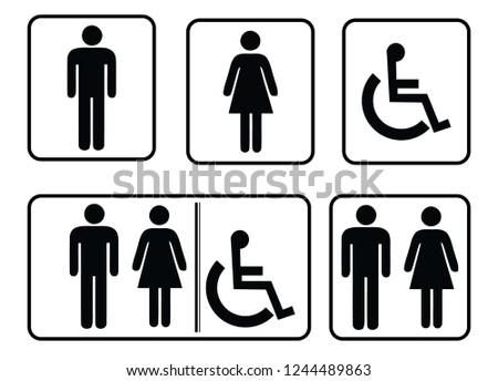 washroom sign - restroom sign