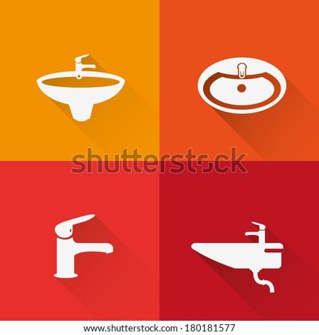 washstand icons Stok fotoğraf ©