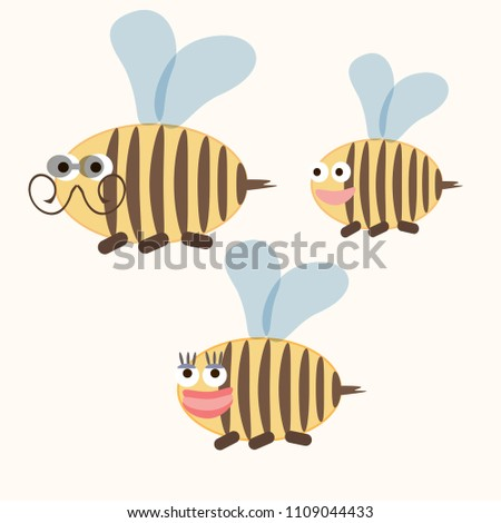wasp family insects doodle