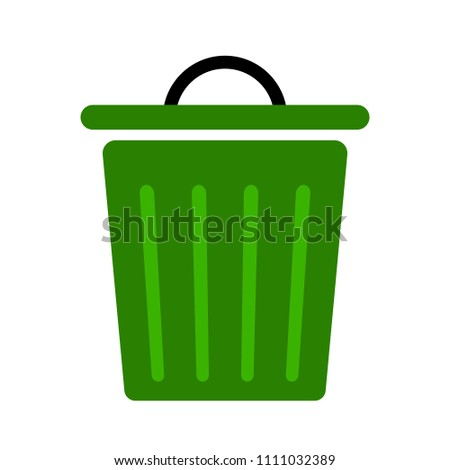 waste icon - trash bin, recycle garbage can