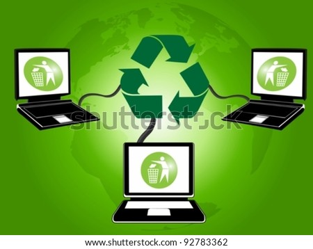 waste management and global recycling concept