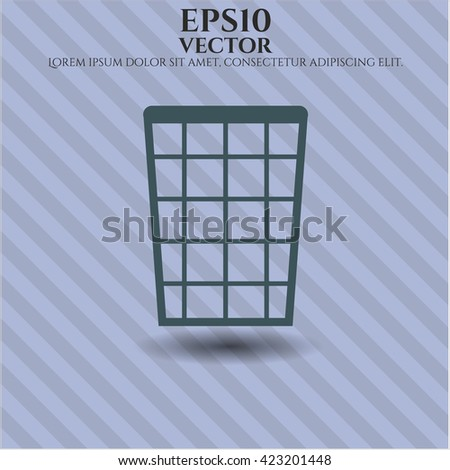 Wastepaper Basket vector icon