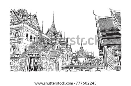 wat phra kaew  holy place and