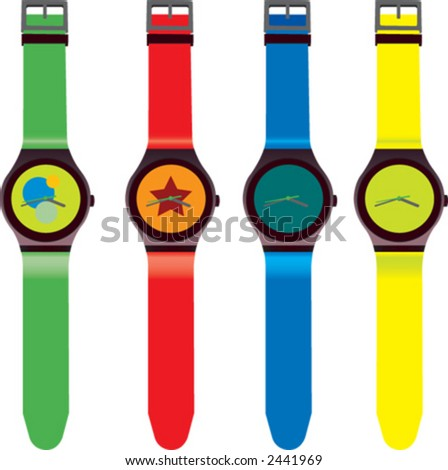 watch, clock, time - stock vector