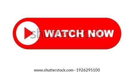 Watch now vector button in flat style. Play video icon isolated on white background. Vector illustration. Photo stock ©