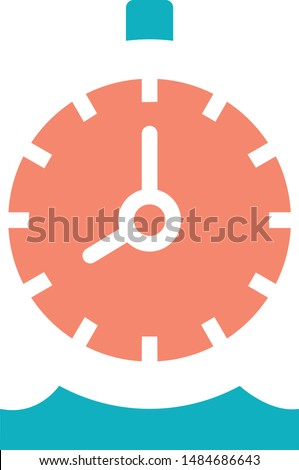 Watch Stopwatch alarm alert trendy icon on white background for web graphic