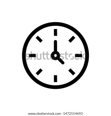 Watch, Time icon, Clock icon vector