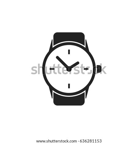 watch vector icon clock flat