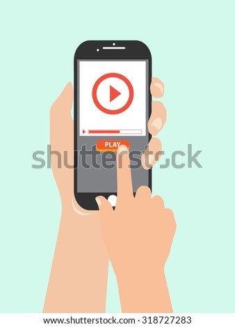 watch video on mobile phone