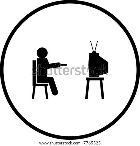 watching tv clipart. watching television symbol