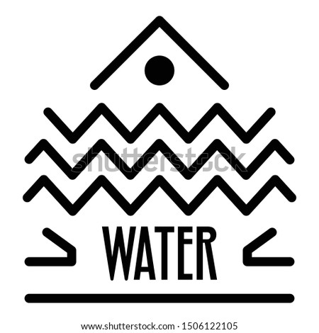 Water alchemy icon. Outline water alchemy vector icon for web design isolated on white background