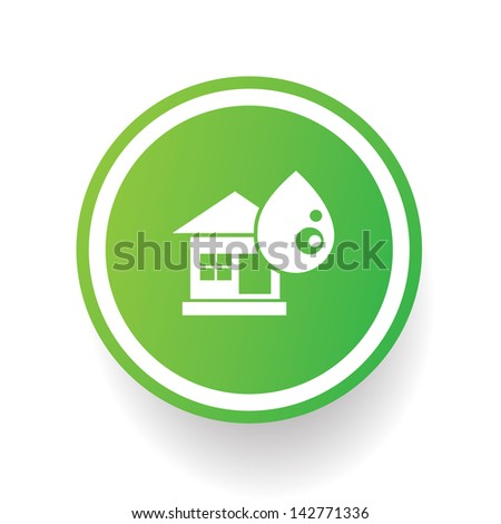 Water and house symbol,vector
