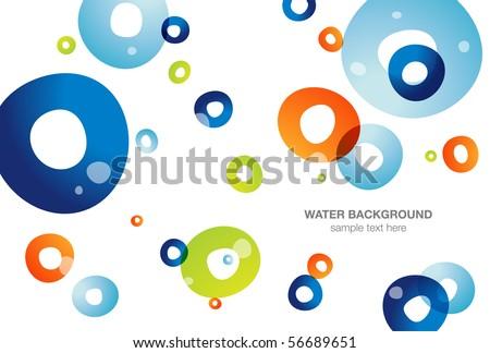 Water background, vector