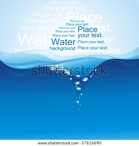 Water background. (vector illustration)