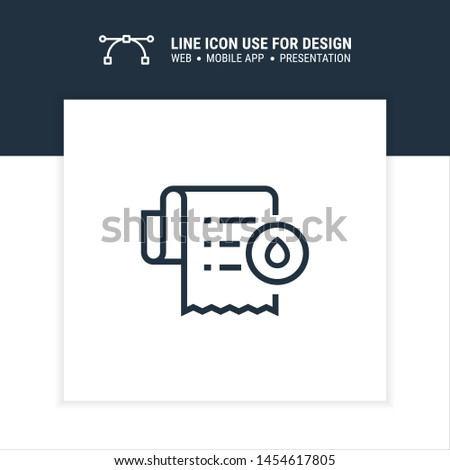 water bill charge monthly icon design vector illustration
