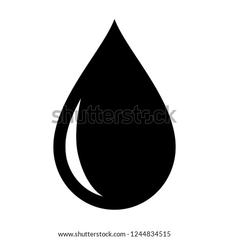Water, blood, oil or petrol drop / droplet flat vector icon for apps and websites