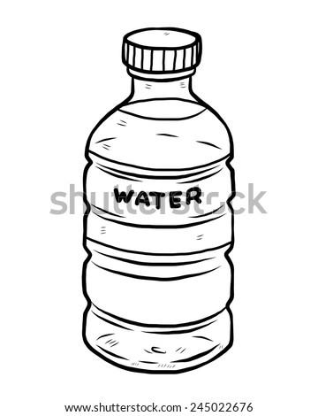 water bottle   cartoon vector