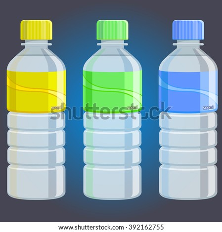 water bottles   illustration